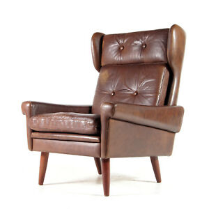 Retro-Vintage-Danish-Teak-Leather-Skippers-Leather-Easy-Chair-Armchair-60s-70s
