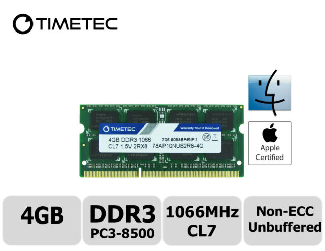 Late 2009 4GB 2RX8 PC3-8500 DDR3-1066MHz Laptop Memory iMac 21.5 and 27-inch