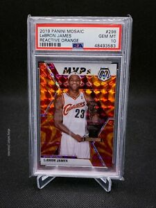 2019 Panini Mosaic 298 LeBron James Reactive Orange PSA 10!