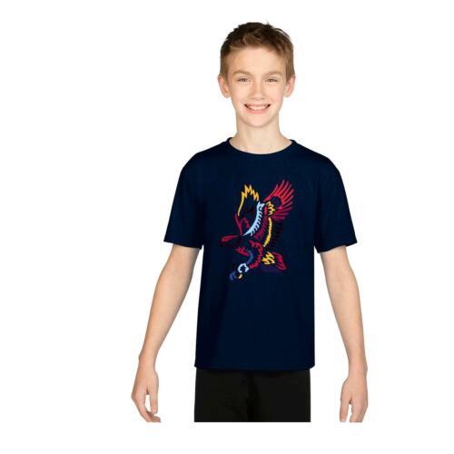 Color Águila Printed T-shirt Niños Chicos Chicas Camiseta Top Niños Verano Fiesta 5142