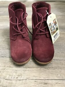 134178b3b2d TOMS Oxblood Burnished Suede Lunata Lace-up Women s Booties Shoes ...