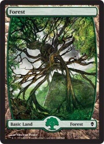 249 1x Forest - Full Art Foil NM-Mint English Zendikar MTG Magic