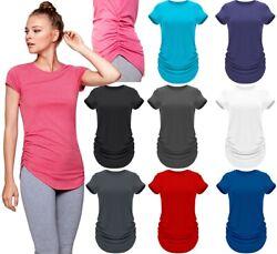 Damen Yoga Shirt Longshirt  Funktionsshirt Top Fitness Training atmungsaktiv