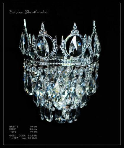 Wandlampen mit echtem Bleikristall Gold o Pass Kronleuchter verfügbar Silber