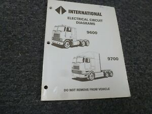 1990 1991 International 9600 9700 Heavy Truck Electrical Wiring Diagrams Manual Ebay