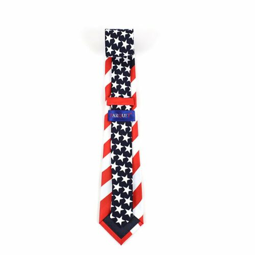 Boy/'s American Flag Patriotic Red White and Blue Novelty Neck Tie Classic