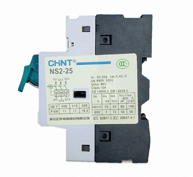 CHINT Electric AC Motor Starter NS2-25 1-1.6AGV2ME