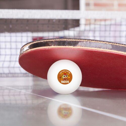 Je me fous je deviens Tacos Funny Tennis de Table Ping Pong Balle Pack de 3