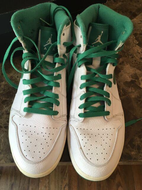 new concept 873e6 ffdfe Nike Air Jordan 1 White Metallic GreenDo The Right Thing 2009 Men's Size 13