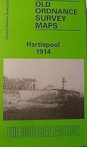 Old Ordnance Survey Detailed Map Hartlepool Durham 1914 Sheet 3707