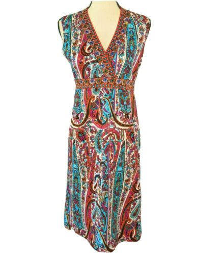 Vintage Italy 1960s Goldworm Novelty Print Dress,