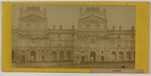Louvre-Militari-Parigi-Francia-Foto-Stereo-L6n70-Vintage-Albumina-c1868