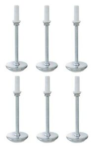 "universal 5"" adjustable height bed frame risers threaded glides"