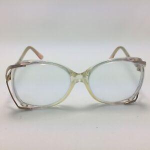 8e36fd17372 Image is loading Vtg-Wilshire-Designs-Eyeglasses -254-Silver-Pink-Translucent-