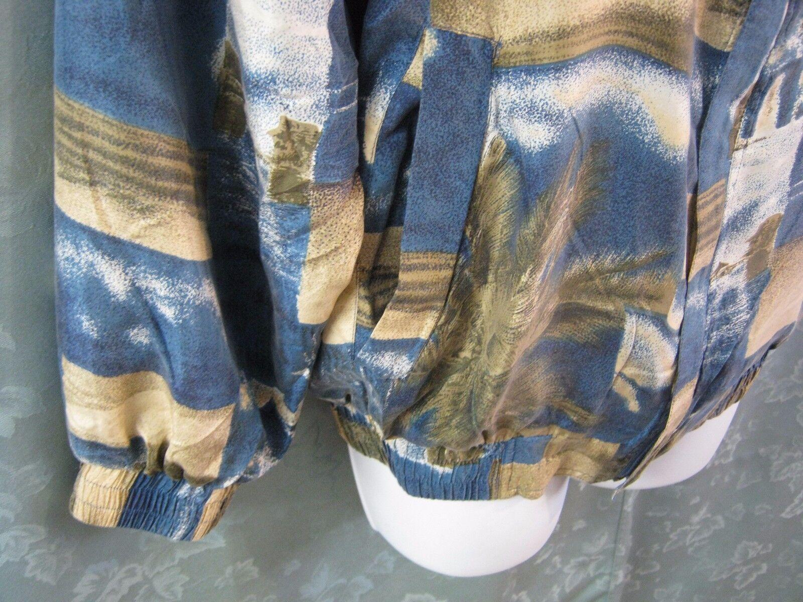 90's FUDA International Silk Bomber Jacket Size S… - image 2