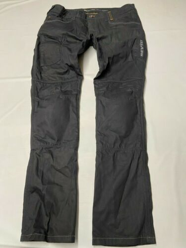 Mens REV'IT Black Button Fly Carnaby Jeans Sz 36X3