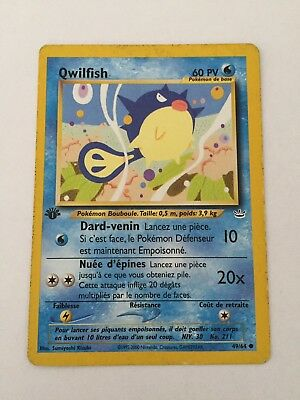 Carte Pokemon QWILFISH 49//64 Commune Néo révélation Wizard Française NEUF