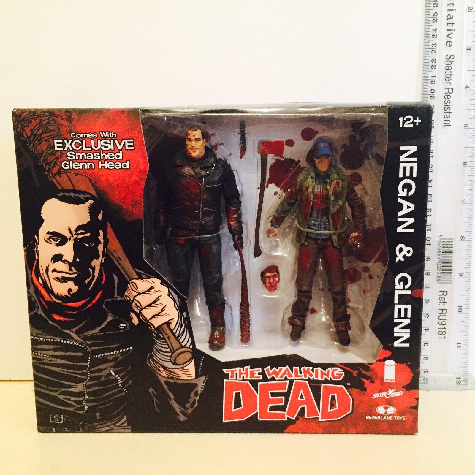 McFARLANE Walking Dead Negan & Glenn Skybound Exc Color Comic figura 2 Pack