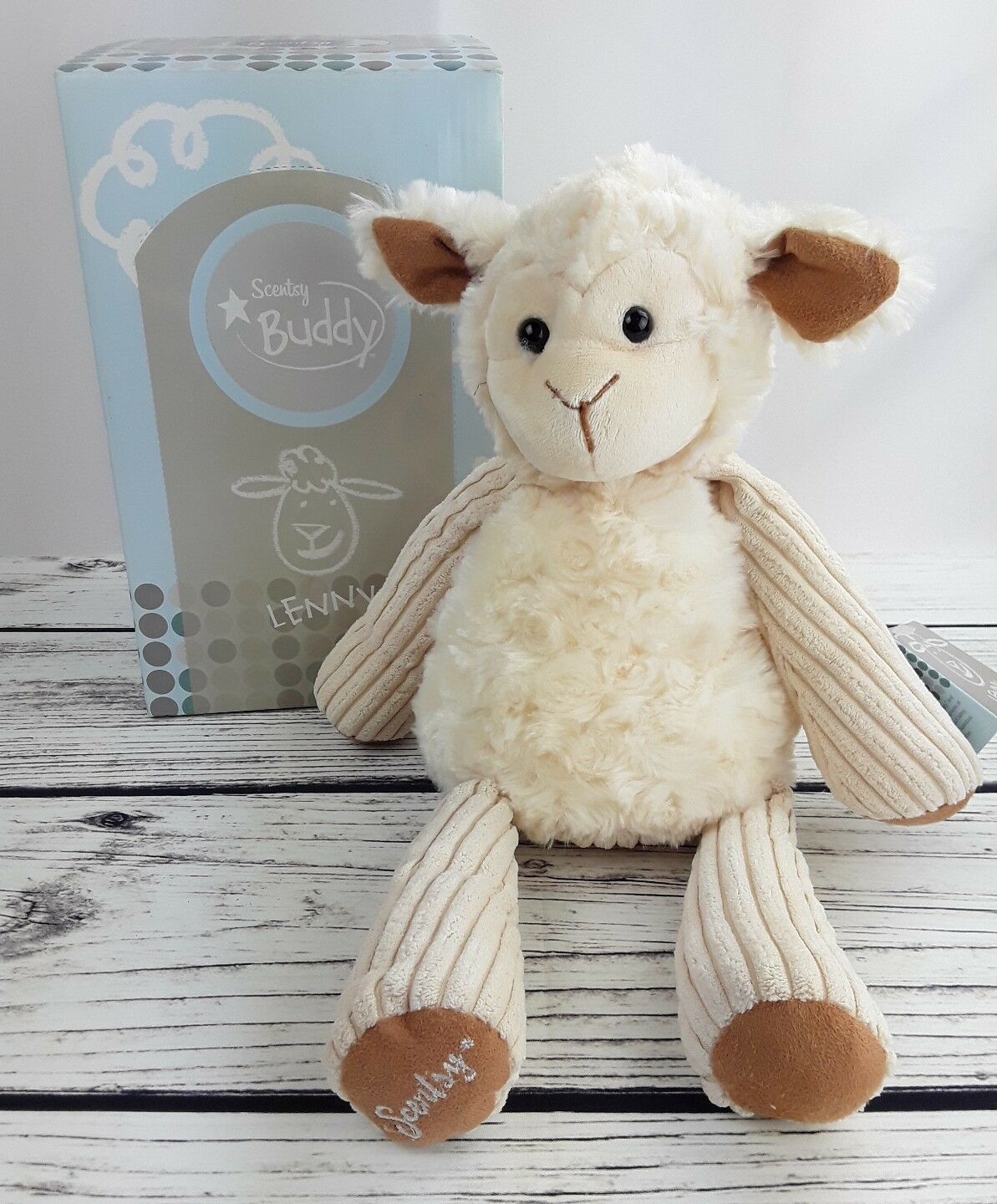 Scentsy Buddy LENNY The LAMB New in Box with Tags Retired 2010