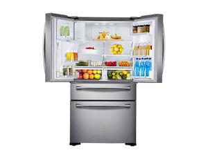 Kühlschrank Edelstahl : Samsung rf24hsesbsr kombination edelstahl kühlschrank gefrierschrank