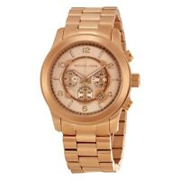 Michael Kors Ladies Runway Chronograph Watch Gold Pvd Gold Dial Mk8096