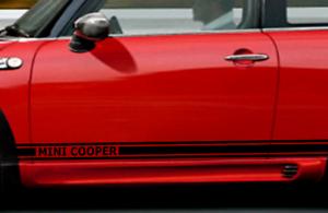 Details About Side Stripes Mini Cooper Sticker Black Matt Or Desired Colour Show Original Title