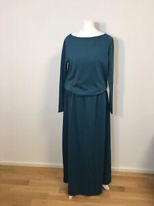 Kleid Turkis Lang Langarm Maxikleid Herbstkleid Damen Abendkleid Ebay