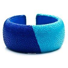 DANNIJO Loma Colorblock Stingray Cuff Bracelet NWOT $265 Navy Turq