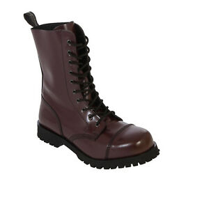 Detalles de Boots & Braces 10 agujeros Botas Cherry Rojo