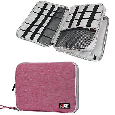 BUBM Travel Double Layer Digital Storage Bag Battery Cable Organizer With Hand