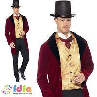 "EDWARDIAN OLD GENT VICTORIAN GOTHIC BOOK WEEK - 38""-44"" mens fancy dress costume"