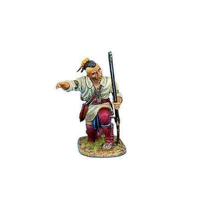 FIRST LEGION AWI083 Woodland Indian Pointing at Target Painted Metal