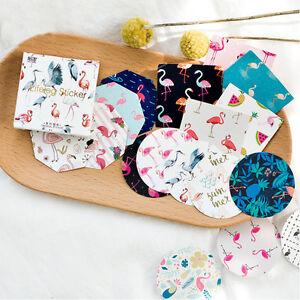 45Pcs-box-Cartoon-Flamingo-Diy-Lable-Stickers-And-Decorative-Lifelog-Sticker