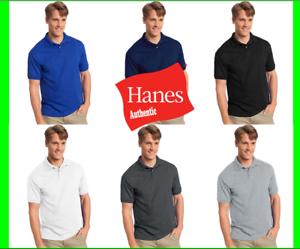 Hanes 054X Cotton-Blend Jersey Mens Polo