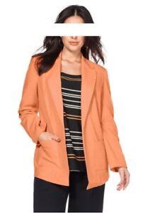 Sheego 52 Orange Stretch Nieuwe 56 54 Business 50 Maat damesjas Blazer RwR6S
