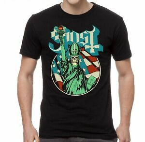 GHOST-cd-lgo-PAPA-BLUE-STATUE-OF-LIBERTY-Official-SHIRT-MED-new
