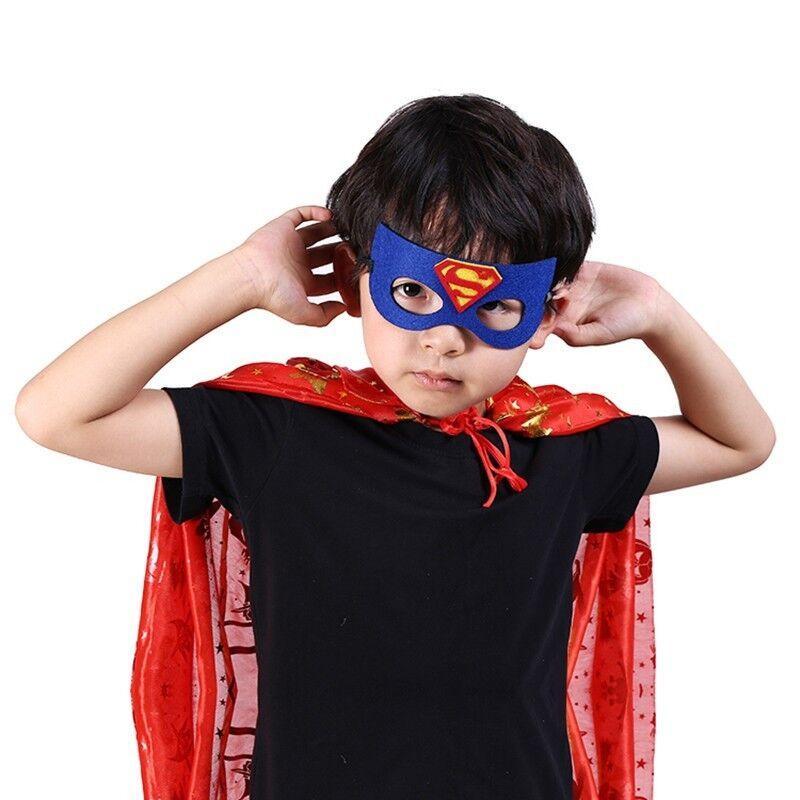 32pcs niños superheroe máscaras media máscaras niños fiesta disfraces traje Prop 4