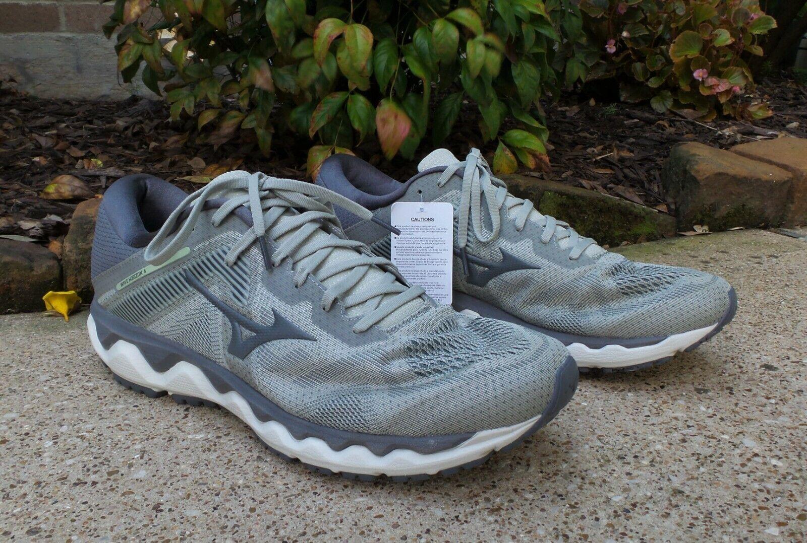 Men's Mizuno Wave Horizon 4 Grey Lace Up Running Shoes Size 14 NEW