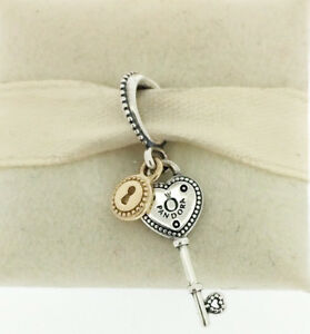 a11ef167170b3 Details about GENUINE PANDORA Key to My Heart Pendant Charm 796593 FREE  DELIVERY