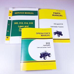 service operators parts manual set for john deere 312 lawn garden rh ebay com john deere 312 service manual John Deere 110 Garden Tractor