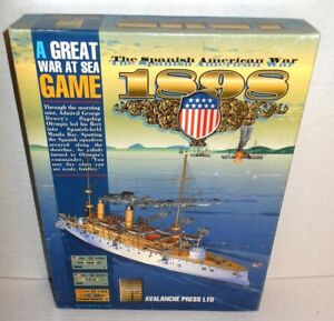 Boxed-BOARD-WAR-GAME-War-at-Sea-1898-Spanish-American-War-op-2000-UNPunched