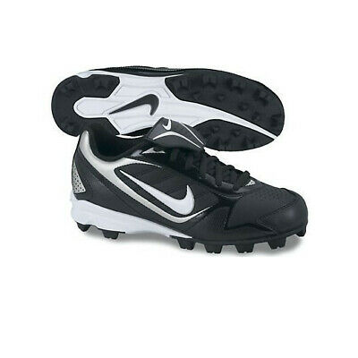 Baseball Cleats Black/White Sz 12C
