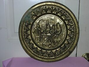 Vintage Peerage Brass Wall Plate Decor Made In England 12 Ebay