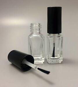Image Is Loading 5ml Empty Clear Gl Nail Varnish Polish Bottle