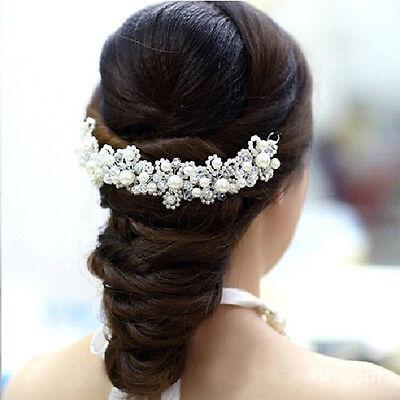 New U-shape Jewelry  Han Edition Hair White Pearl Crystal Bride Headdress Hair