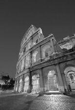 B & W di stampa IL COLOSSEO a ROMA IN ITALIA. ARTE E FOTOGRAFIA POSTER PICTURE