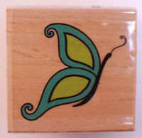 Whimsical Butterfly Studio Wooden Rubber Stamp Inv118