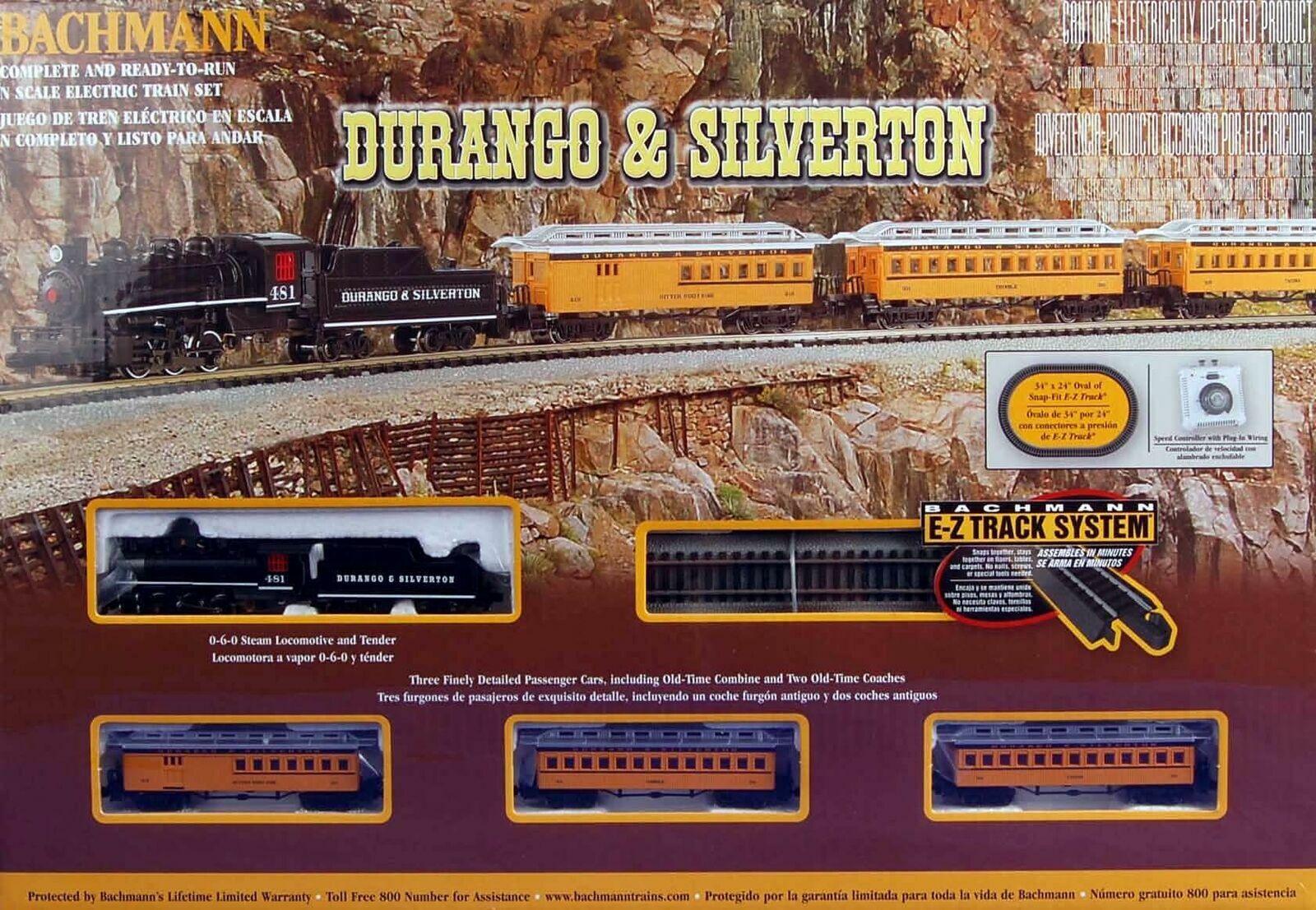 Bachuomon 24020 SCALA N Durango & argentodeon Treno a Vapore Set Pronto A Correre