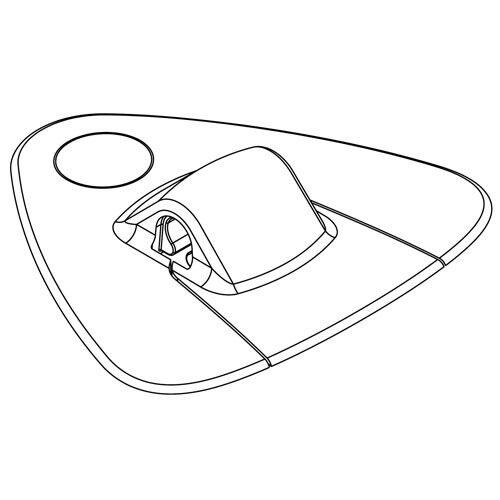 grau Ziehgriff für Schlauchboote Griff zum Hinterherziehen Kleben 29,02 g