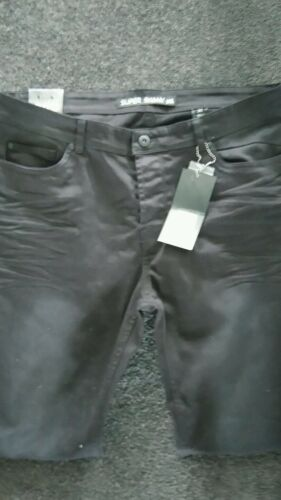 New unwanted men's Yd black super skinny jeans size 38 RRP $ 109.99